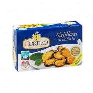 Conserva de Mejillones de Galicia en escabeche tamaño 8/12 piezas - Peso Neto 111 gr
