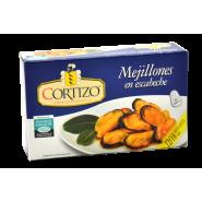 Conserva de Mejillones de Galicia en escabeche tamaño 12/18 piezas - Peso Neto 111 gr