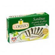 Conserva de Sardina pequeña (Sardinilla) en aceite de oliva 7/10 piezas - Peso Neto 90 gr